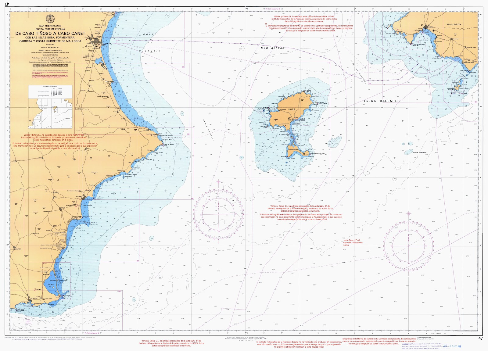 Cartas de pesca de fondo islamorado