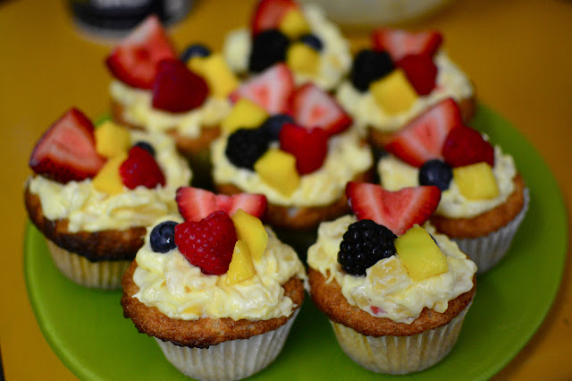 Truffles And Threads Fruit Topped Angel Food Cupcakes