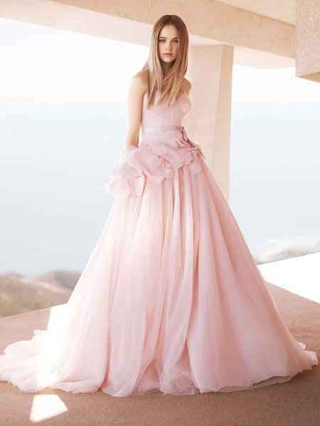 pink wedding dresses pink rose wedding dress at stevies gowns