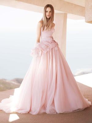 light pink wedding dresses