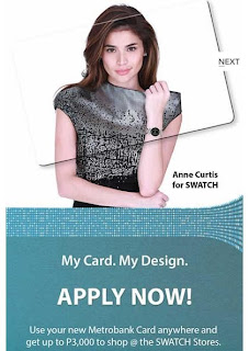 Metrobank, My Card My Design SWATCH Promo