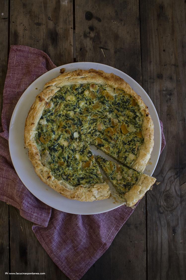 torta salata zucca e spinaci