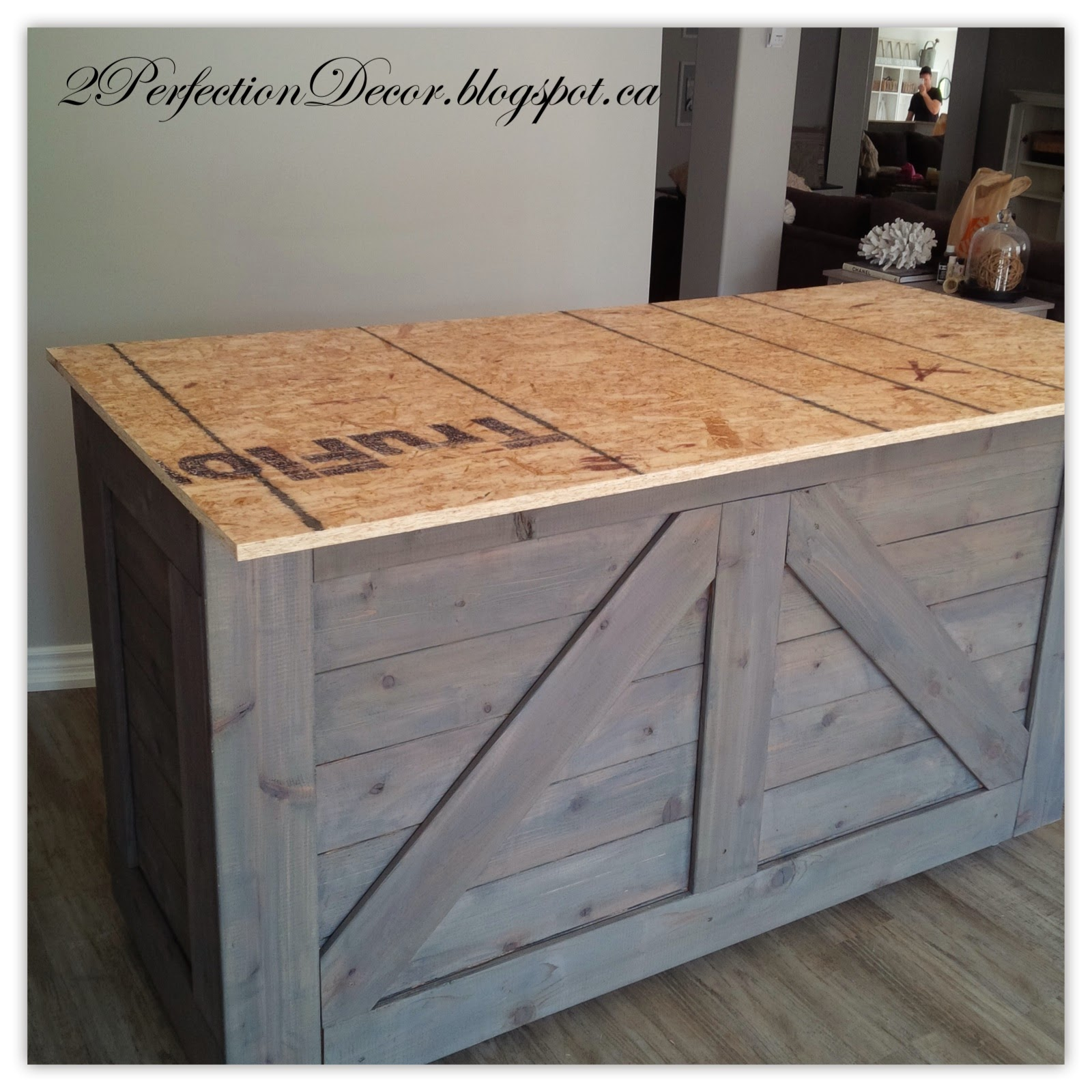 2Perfection Decor: Ikea Varde Cabinet transformed into Rustic Wood Bar