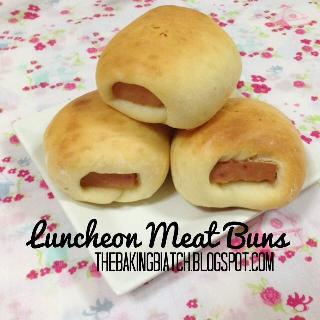 the baking biatch by cynthia lim luncheon meat buns. Black Bedroom Furniture Sets. Home Design Ideas