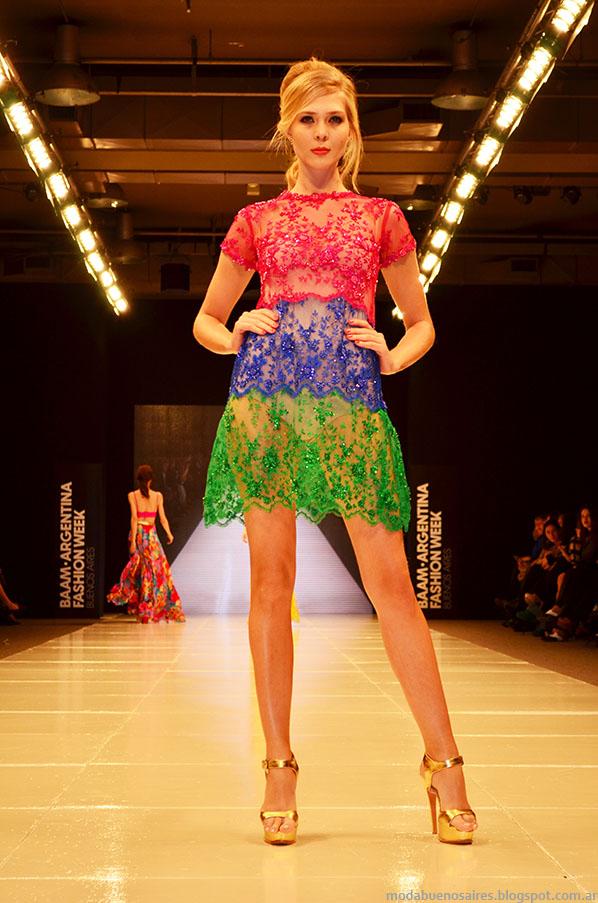 Laurencio Adot primavera verano 2014 vestidos de fiesta.