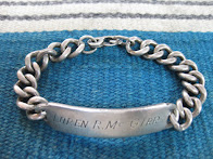 around 50's               MILITARY SILVER                ID BRACELET