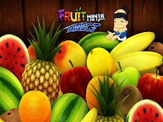 Fruit Ninja Cute Old Ninja and Fruits Illustration HD Wallpaper