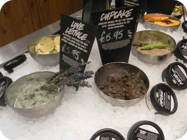 A picture of Lush fresh face masks