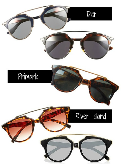 Dior sunglasses dupes from the highstreet