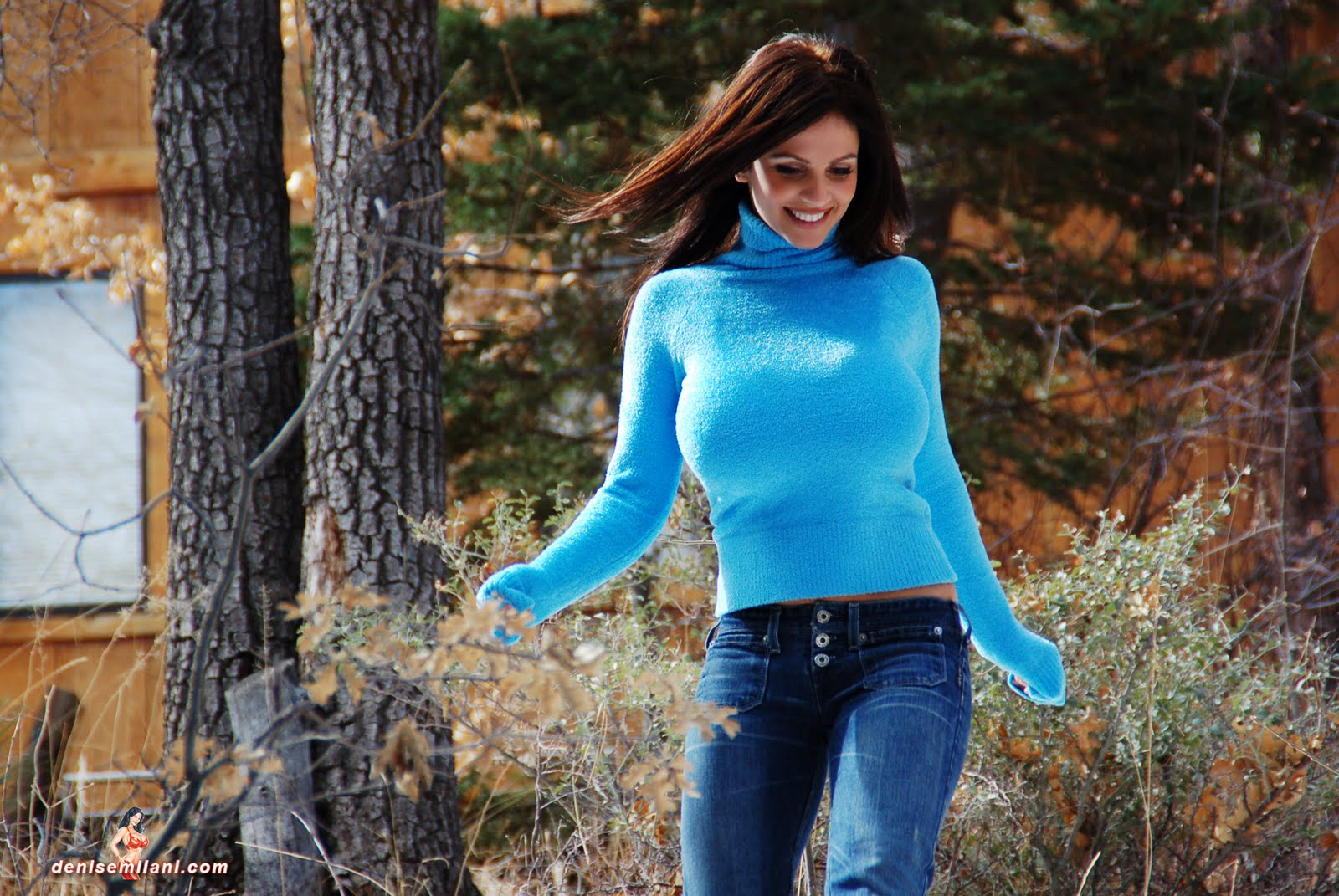 denise milani blue dress - photo #21