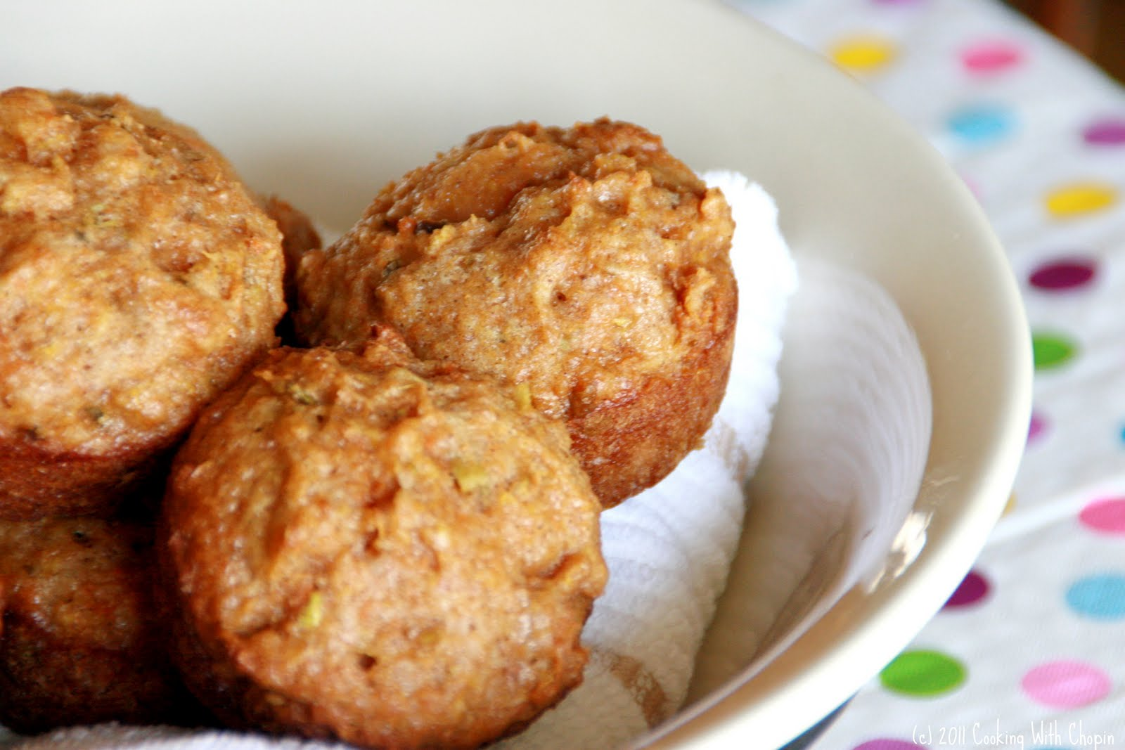 ... Chopin, Living with Elmo: Apple-Carrot Muffins (a.k.a. Juicer Muffins
