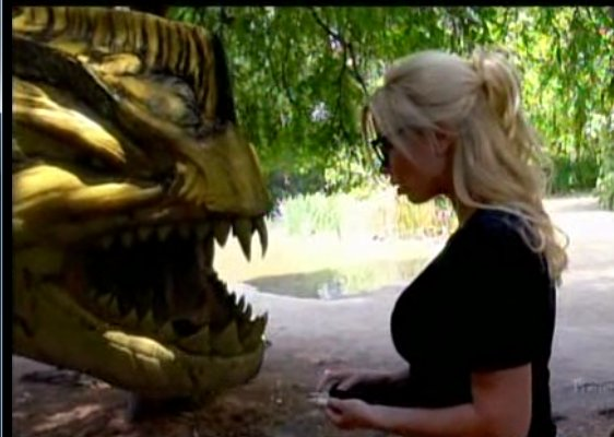 piranhaconda eating blonde