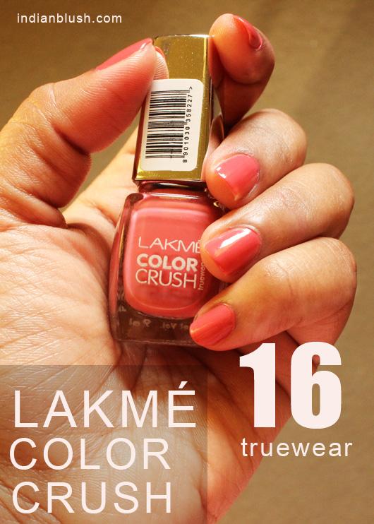 Lakme Color Crush True Wear 16 Nailpolish