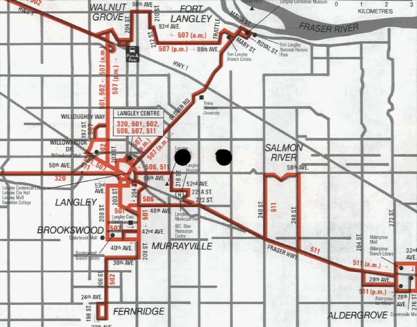 The South Fraser Blog Langley Gets Transit System In 1988