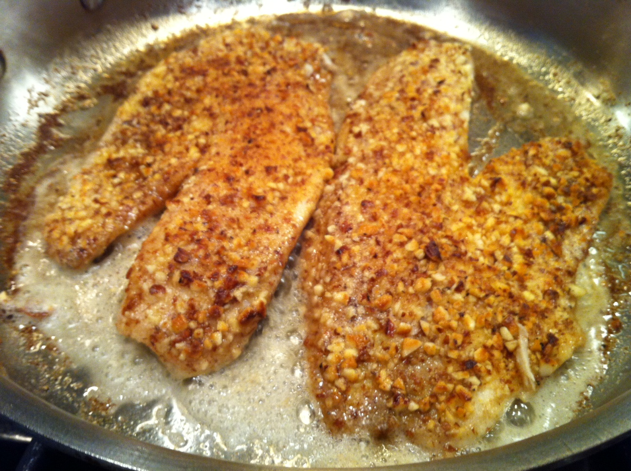 Almond Flounder Meuniere Recipe — Dishmaps
