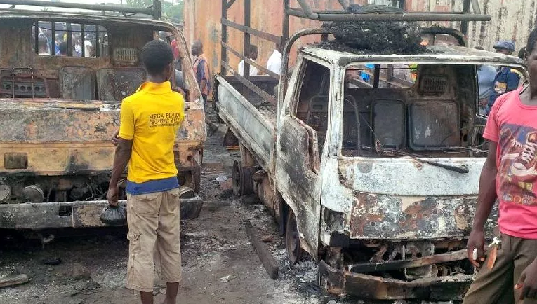 3 Confirmed Dead As Fire Guts Mile 12 Market In Lagos