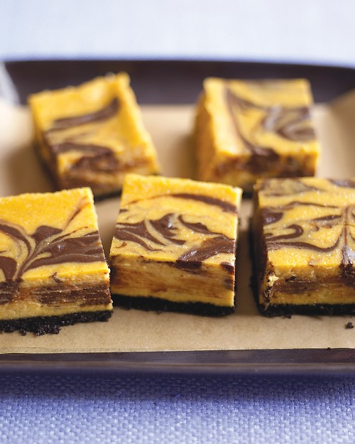 Chocolate-Pumpkin Cheesecake Bars | Cook'n is Fun - Food Recipes ...