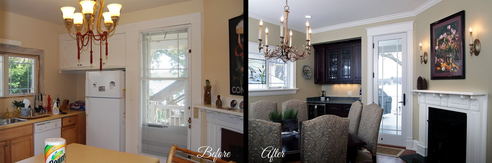 lake home remodel bartelt the remodleing resource dining room - Dining Room Remodel