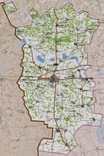 Карта Исилькульского района