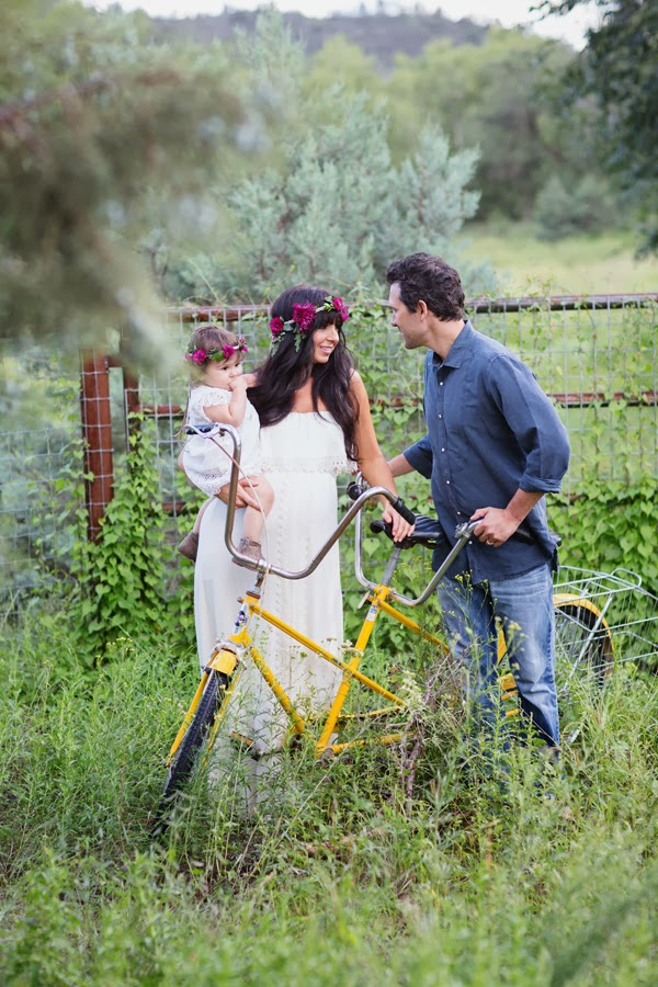 Fawn Over Baby Bohemian Maternity Family Session By