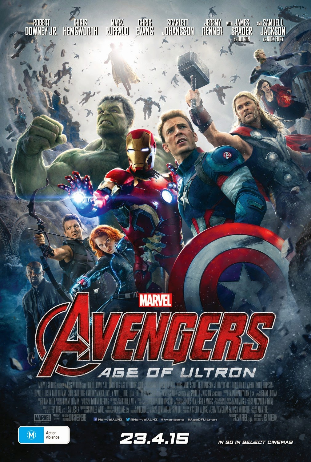 Mavel's Avengers: Age of Ultron International Movie Posters