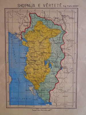 Zbulohet Harta e Shqipërisë së Madhe nga Arkivi i Shtetit