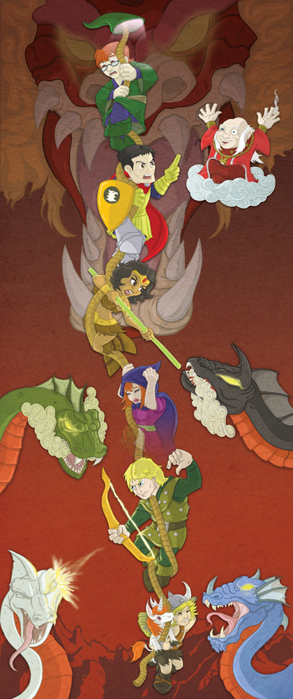 D is for Dungeons and Dragons por Super-Munkyboy