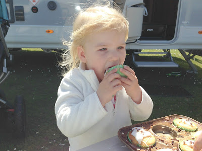 Tin Box Tot eating a cake
