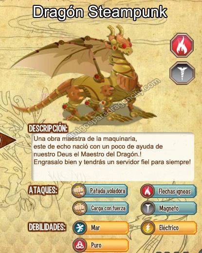 imagen del dragon steampunk y sus caracteristicas
