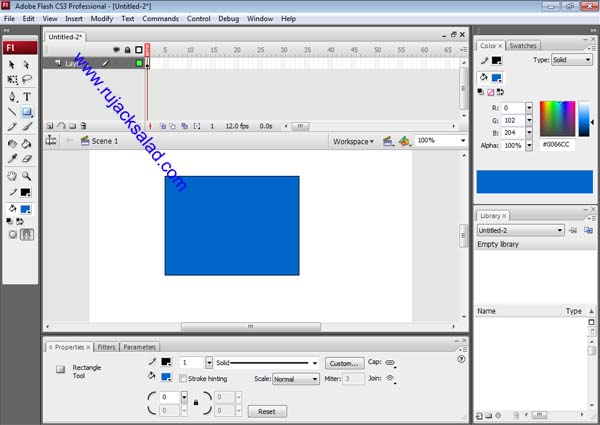 Making Square On Adobe Flash CS3