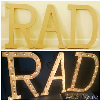Rad Marquee DIY Sign