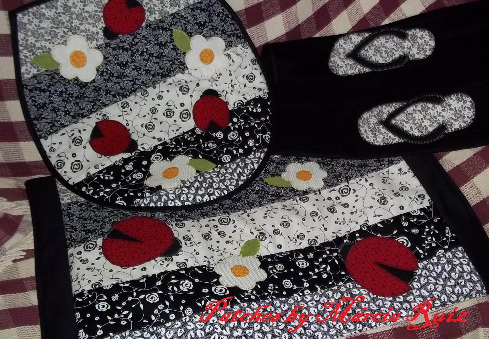 Patchwork Tapete De Banheiro : Patches by M?rcia Ruiz: jogos de banheiro em patchwork