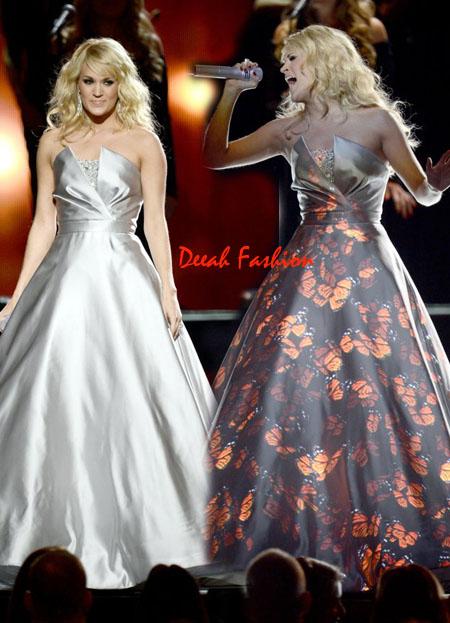 Gaun LED Carrie Underwood Grammy 2013