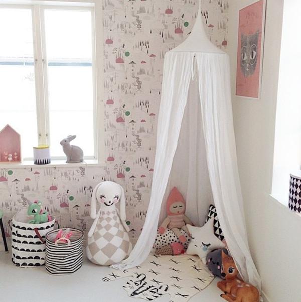 Ideas deco habitaciones infantiles de estilo n rdico para - Habitaciones infantiles para nina ...