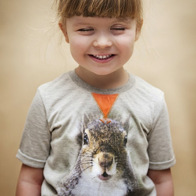 Kids t-shirt with animal print by WataKrowa