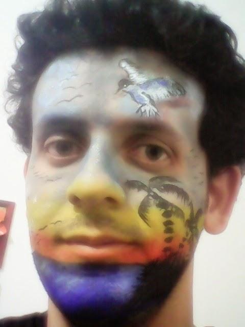 Pintura Facial Artística  - paisagismo..