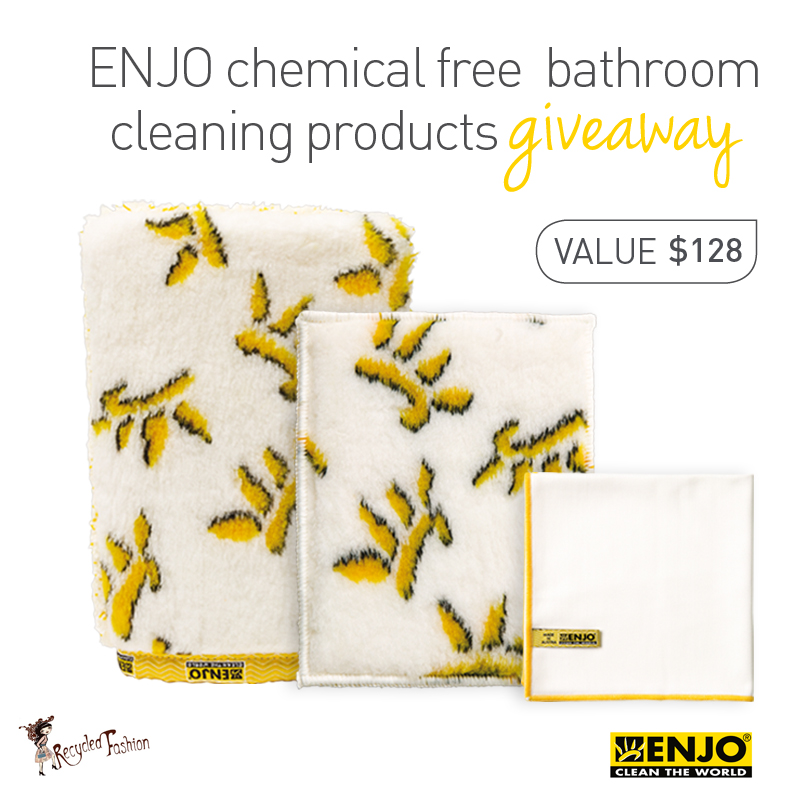 Wash Enjo Cloths: Recycled Fashion: Chemical Free Cleaning