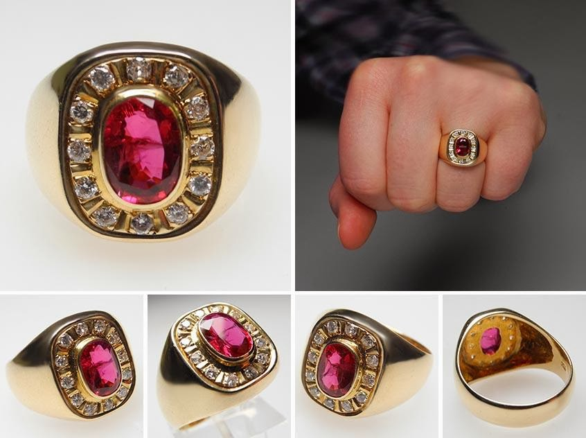 Top Ten Fashion One Mens Wedding Gold Rings Ruby