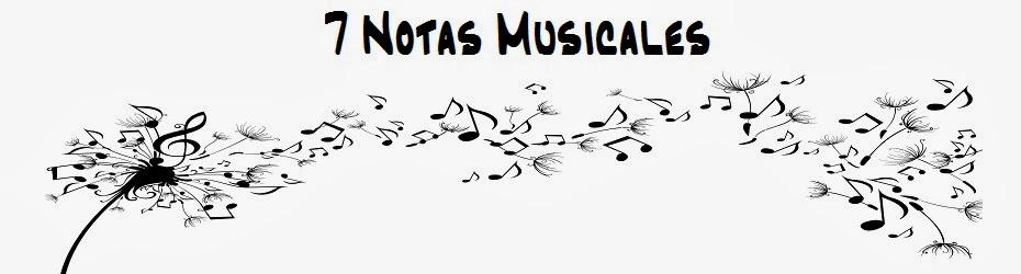 7 notas musicales