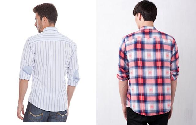 camisas de rayas y cuadros