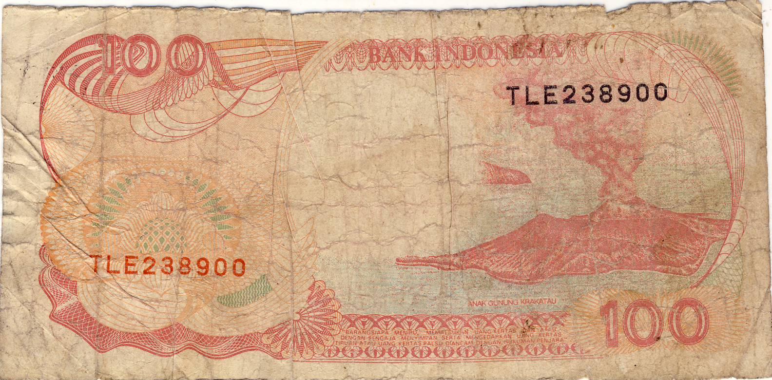 Selembar uang kertas yang dikeluarkan oleh perum percetakan uang ri