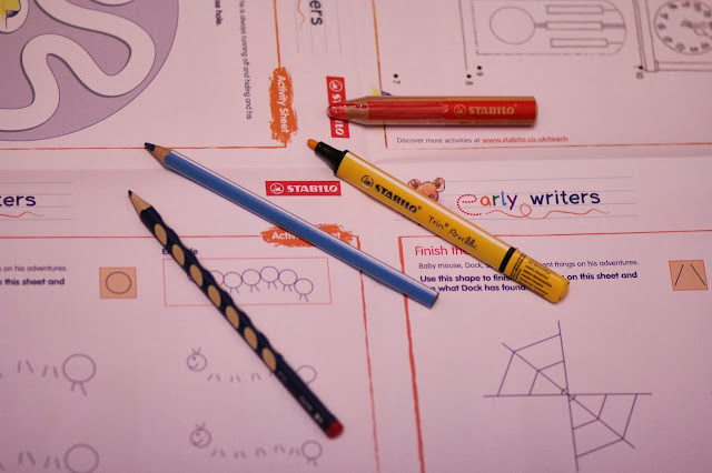 stabilo early writers pack Trio Scribbi, Trio Thick,easy graph and woody 3 in 1