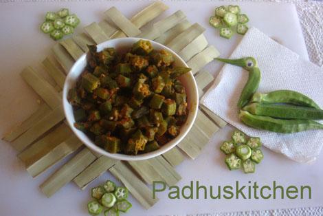 Vendakkai Poriyal - Lady's Finger Curry