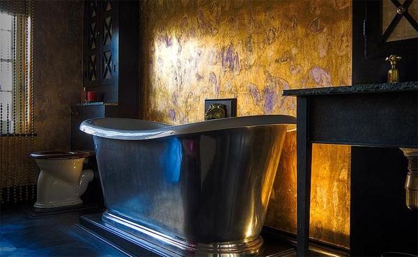 bañera de hierro forjado negro