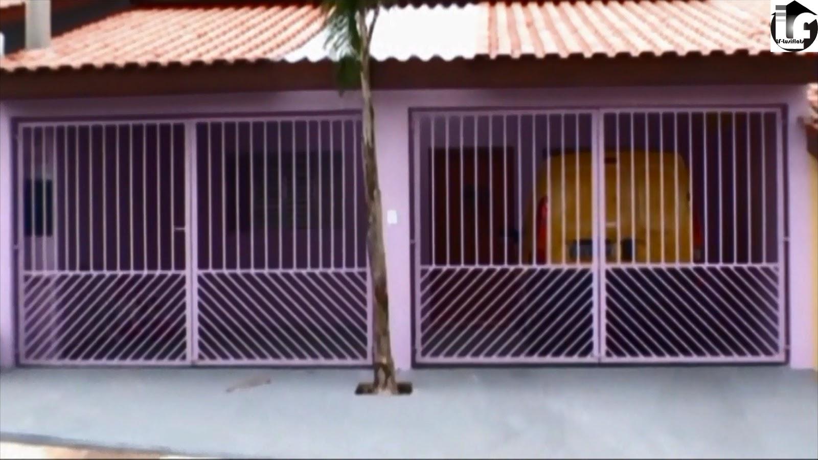 fachada lilás portões metal garagem 2 vagas #965235 1600 900
