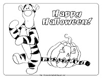 halloween coloring pages  tigger pumpkin