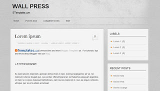 Wall Press Blogger Template