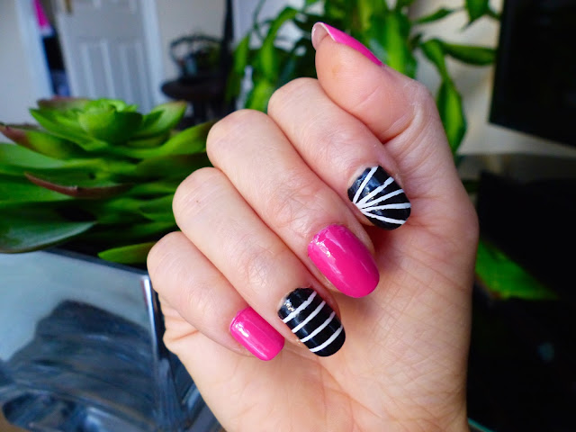 Black and White + Pink