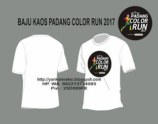 BAJU KAOS COLOR RUN