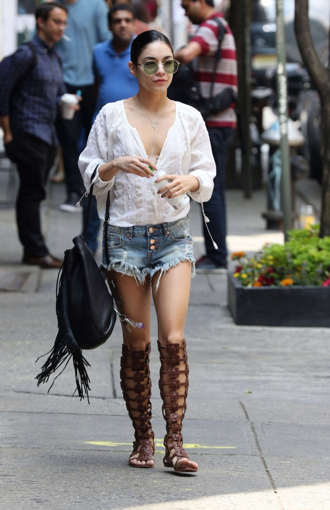 Vanessa Hudgens is stylish in a bohemian attire in Soho